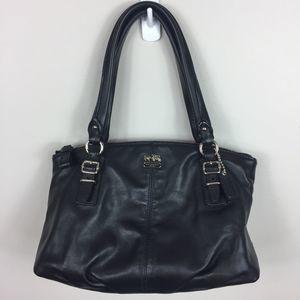 Coach Small Black Leather Handbag.